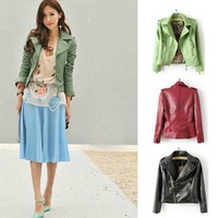 2013 HOT SELL NEW 3 COLORS UNIQUE OBLIQUE ZIPPER LAPEL EPAULETS BIKER JACKET CUFFS WITH ZIPPER WF-4199