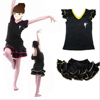 Nagle Latin dance female child Latin leotard dance clothes leotard dance practice skirt clothes dance pants  kids apparel