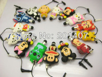 15pcs /lots Mini 3D Cartoon stitch kitty Short Mobile Stylus Touch  Dust-proof Pen For iPhone 5 G 4S for iPad 3 / 2 / 4  tablet