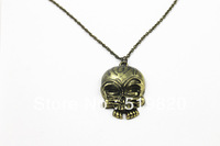 High polished skull logo necklace jewelry