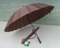 Umbrellas  cover 24k windproof  24  long-handled  large  male   umbrella Free shipping N