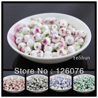 Diy accessories material handmade beads knitted bracelet 10mm ceramic applique beads