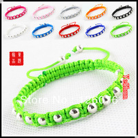 Silver shiny small beads handmade preparation bracelet friendship bracelets