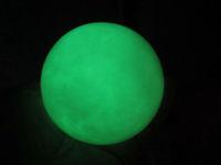 300g (0.66 lb) Green Glow White Jade Stone Glow In The Dark Stone Ball China T071
