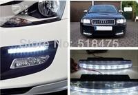 Free shipment 8 LED E4  Universal Car Light DRL Daytime Running Head Lamp Super White*2PCS