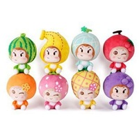 Free shipping! 18cm 8 Style 8pcs/lot  Retail New arrival christmas gift fruit monkey plush toys
