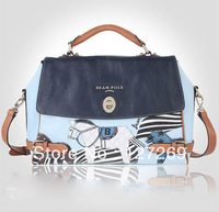 Lady's Bag 2013 New Korean Style Joker Fashion Messenger Bag Casual Multifunction Blue Pony Shoulder Bags WB0023 Retail