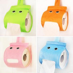 Lazy elf Tissue creative home storage box cartoon plush fabric roll towel sets paper tube free shipping