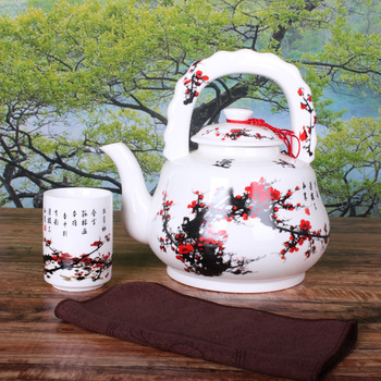 Free shipping Free Shipping Big teapot ceramic kettle porcelain handle pot portable pot kettle cool water pot 3l