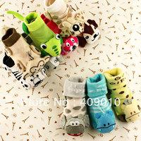 Baby thin cotton socks baby three-dimensional cartoon summer socks spring and summer newborn cotton 100% slip-resistant