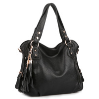 Fashion elegant 2013 tassel genuine leather female bags female handbag one shoulder cross-body big bag