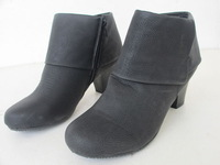Women's single boots PU boots ankle boots plus size boots 40.5