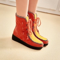 Women's boots sweet vintage horse boots snow boots ankle boots