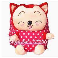 New Radiant Miqi A cute cartoon raccoon children children canvas bag backpack schoolbag Korean Toys Gift