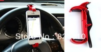 Drop Shipping Steering Wheel Adjustable Mobile Phone Holder for iPhone for HTC for MI Bracket Car Auto Accessories Free Ship Red
