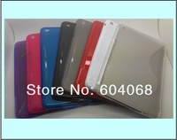 S Line skin TPU Case Anti-skid design case for  ipad mini X920e ,10pcs/lot