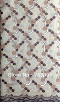 free shipping 5y/pieces,african handcut organza lace fabric,african french lace high quality,  R43 beige.coffee