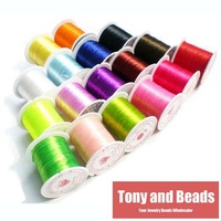 50Meter (5 Rolls) 0.8mm Crystal Stretchy Elastic Craft Bracelet Beads Thread Cords Wire 20 Colors In Total for Jewelry Making