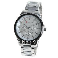Curren 8130 Men's Watch Strips Hour Marks with Round Dial Steel Watch Watchband