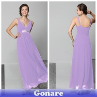 EG133 Gonare Lavender Backless Evening Dress Floor Length Purlpe Party Dress Gown Long Formal Vintage Dress 2013
