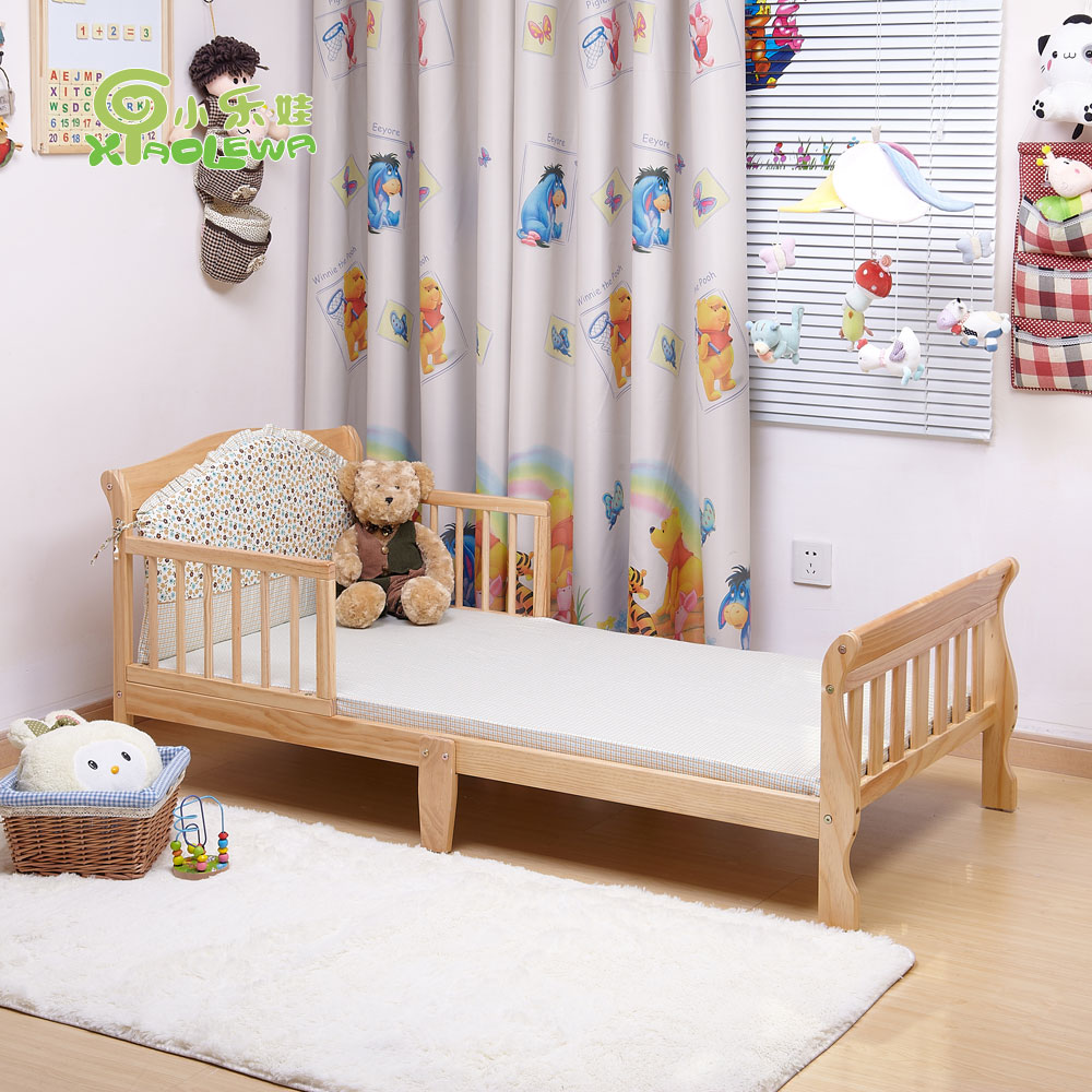 Small child bed solid wood baby bed child bed boy princess belt guardrail kindergarten bed(China (Mainland))