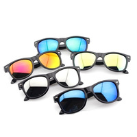 2013 new fashion hot sale children reflective glasses rivet kids sunglasses boy/girl cool multi color wholesale free shipping