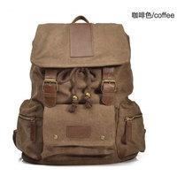 Mens Vintage Canvas Hiking Travel Backpacks Messenger laptop big Bag  Top Quality  Free Shipping