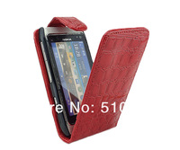 Wholesale and retail CROCODILE FLIP LEATHER POUCH CASE COVER FOR NOKIA N8 FREE SHIPPING