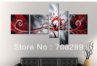 red black white abstract oil paintings canvas home decoration Modern Apartment interior wall art Oil Painting  c226