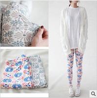 Free shipping women clothing 2013 new fashion Korean models pastoral flowers sunflowers printed ninth leggings lady fitness