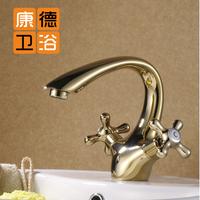 Fashion antique copper gold faucet gold plated gold big bend basin faucet (KP)