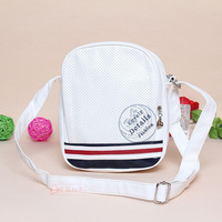Women's handbag messenger bag fashion women bag PU white small sports bag