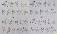 Free shipping Nail art tools watermark applique nail art accessories finger sticker gold and silver lines bley045-55