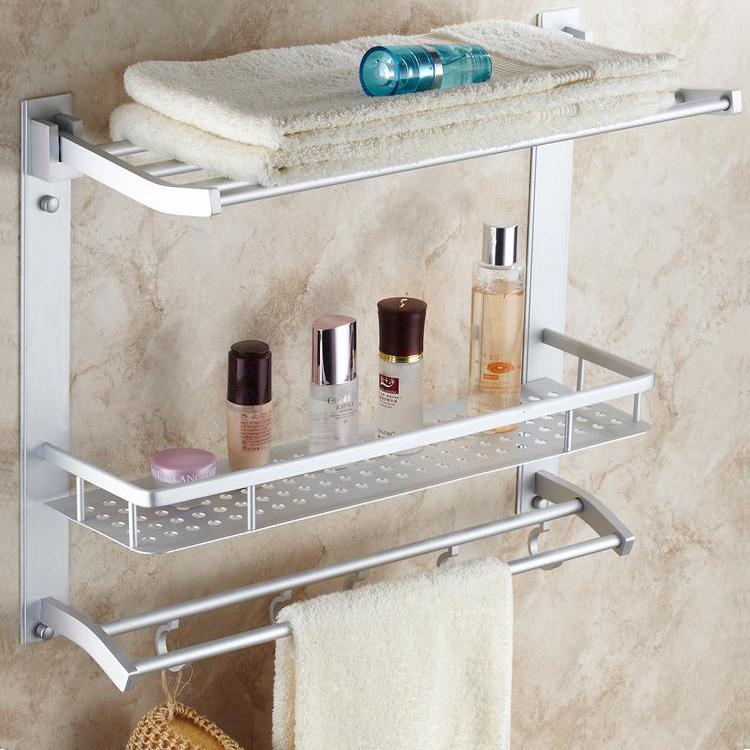 Adorable Bathroom Shelf Towel Bar Design Decoration Of Best - Bathroom wall shelf with towel bar for bathroom decor ideas