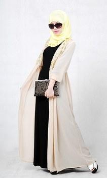 New Arrival Autumn Muslim Wemen Long Abaya Islamic Dust Coat Free shipping
