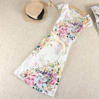 2015 Summer women's plus size dress one-piece dress one-piece dress vest cotton sarong female