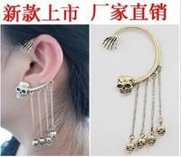 Eh291 fashion punk rock skull tassel ear hook earring