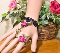 Sz228 fashion vintage cutout flower mask rose bracelet one piece bracelet
