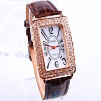 Square Rhinestone exquisite quartz watch beautiful women dress gift watches wholesale A158433,2013 new fashion hot selling