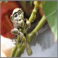 Jz174 vintage metal monkey bronze ring general small animal ring