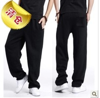 Male trousers 45 winter male sports pants fashion solid color plus velvet trousers
