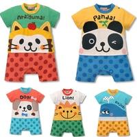 15Pcs/Lot(6-24M)Children Kids baby boy's Jumpsuit for 2013 Summer,100% Cotton Cartoon Model rompers,5 colors*3sizes,