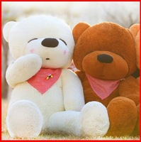 free shipping squinting sleepy teddy bear plush toy 1.2 m