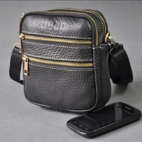 Pure casual genuine leather handbag shoulder bag messenger bag waist pack multi-purpose mini bag small