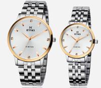 Ikey quartz watch male watches ultra-thin ss1 stainless steel belt watchband casual fashion watch 8585