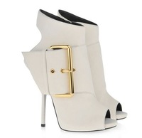 Famous brand Design gladiator ankle boot suede women bootie shoes fashion high heels 2013 new