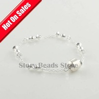 100% 925 Sterling Silver Bracelet Chain with Clasp Clips, Compatible With Pandora Style Bracelet, DIY Jewelry Making YL601
