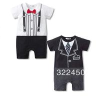 3pcs/Lot (0-18M) children kids toddlers baby Boy's short Romper For 2013 Summer. gentleman Style Jumpsuit,