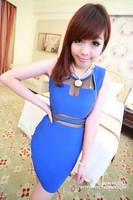 2013 ladies slim waist hip slim one-piece dress