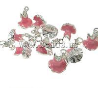 Free shipping!!!Zinc Alloy Lobster Clasp Charm,wedding jewellery, Garment, enamel, pink, nickel, lead & cadmium free